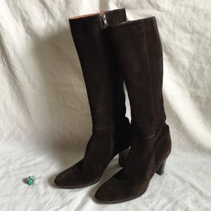 J. Crew Italy Made leather boots size 8 EUC + ring